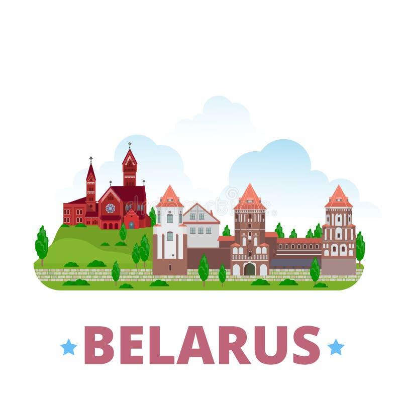 Belarus country design template Flat cartoon style. Belarus country design template. Flat cartoon style web site vector illustration. World vacation travel stock illustration