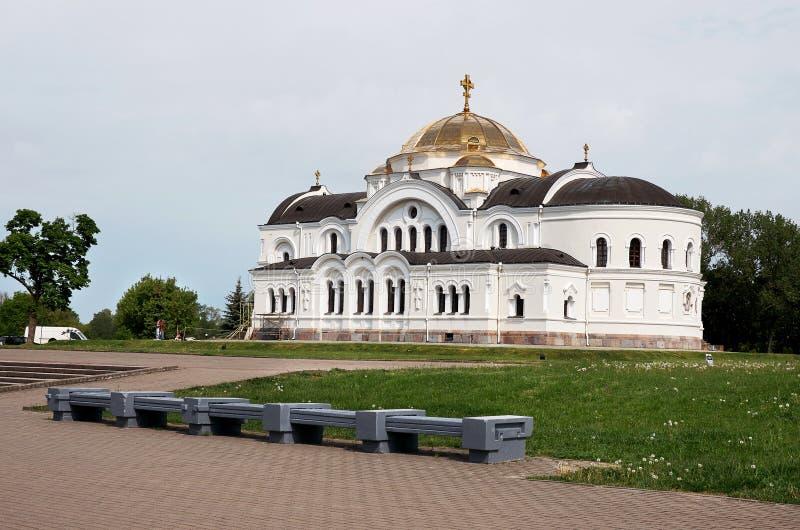 belarus Der Haupteingang zum Krieg-Denkmal St. Nicholas Cathedral in der Brest-Festung 23. Mai 2017 lizenzfreies stockbild