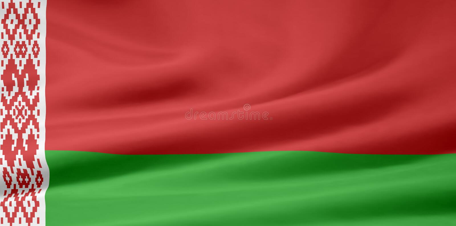 belarus flagga stock illustrationer