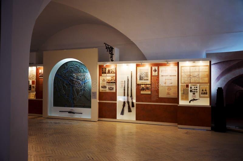 belarus Forteresse de Brest L'entrée principale au mémorial de guerre Le musée de la défense du Forteresse-héros de Brest Décorat photographie stock