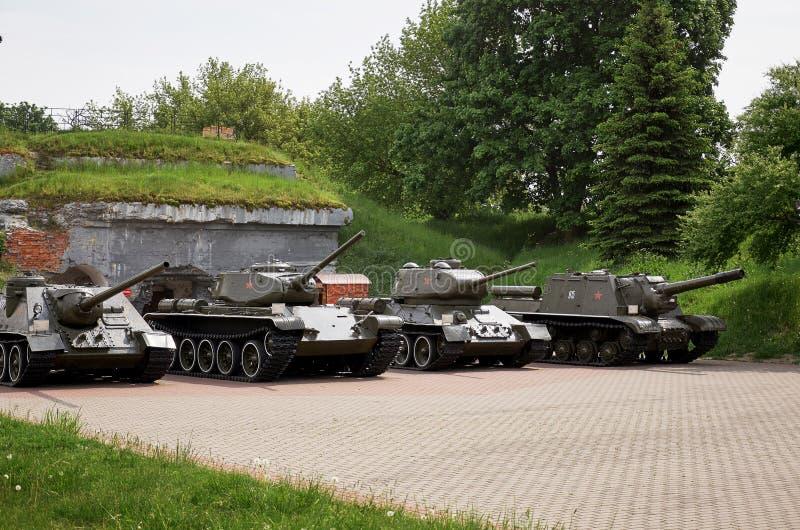 belarus Forteresse de Brest L'entrée principale au mémorial de guerre Réservoirs dans la forteresse 23 mai 2017 photo libre de droits