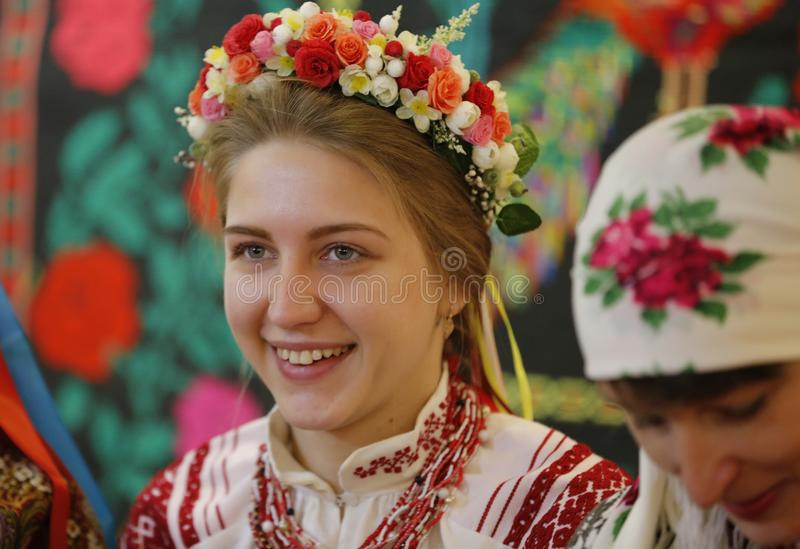 Ethnic Belarusian Bride royalty free stock images