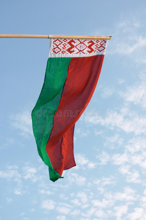 Belarus-Markierungsfahne stockbild