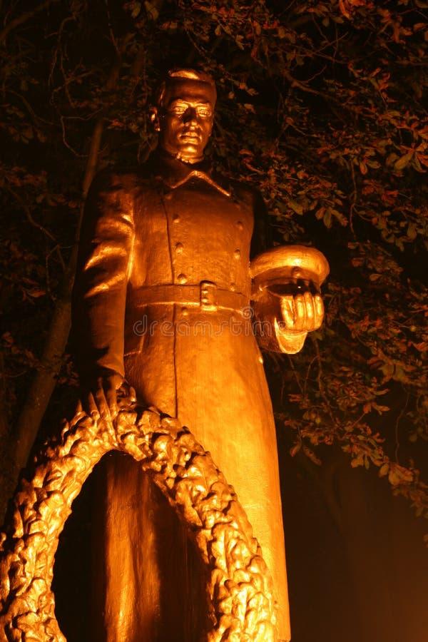 Belarus monuments and national symbols of Wołkowysk stock photos