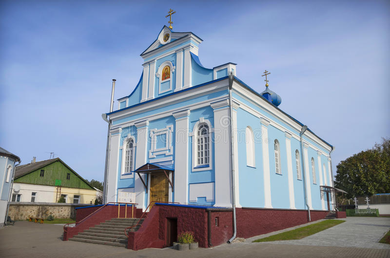 Belarus, Stolbtsy: orthodox church of St Ann. St Ann's church: ancient and most beautiful orthodox church of the town Stolbtsy. It is taken a close-up stock image