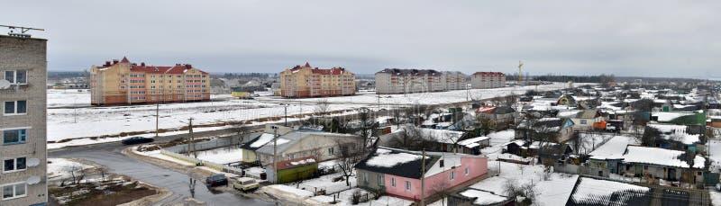 Belarus. Vista panorâmico da cidade de Vileyka foto de stock royalty free