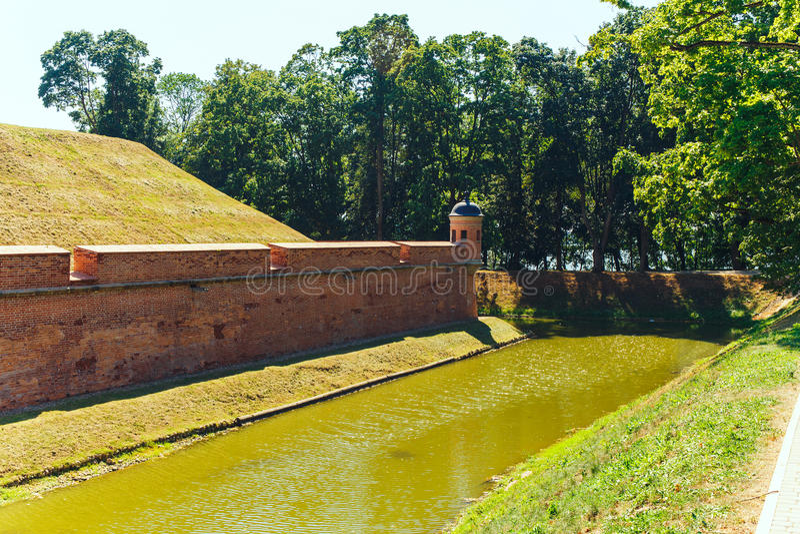 Belarusian tourist landmark attraction Nesvizh Castle. Medieval castle in Nesvizh, Belarus royalty free stock photography