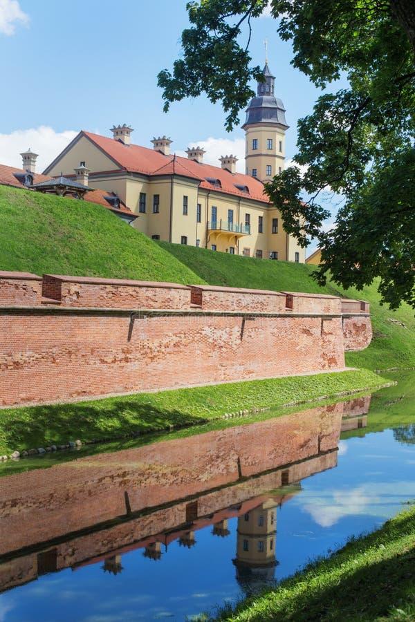 Belarusian tourist landmark attraction Nesvizh Castle - medieval. Castle in the Nesvizh, Belarus royalty free stock photography