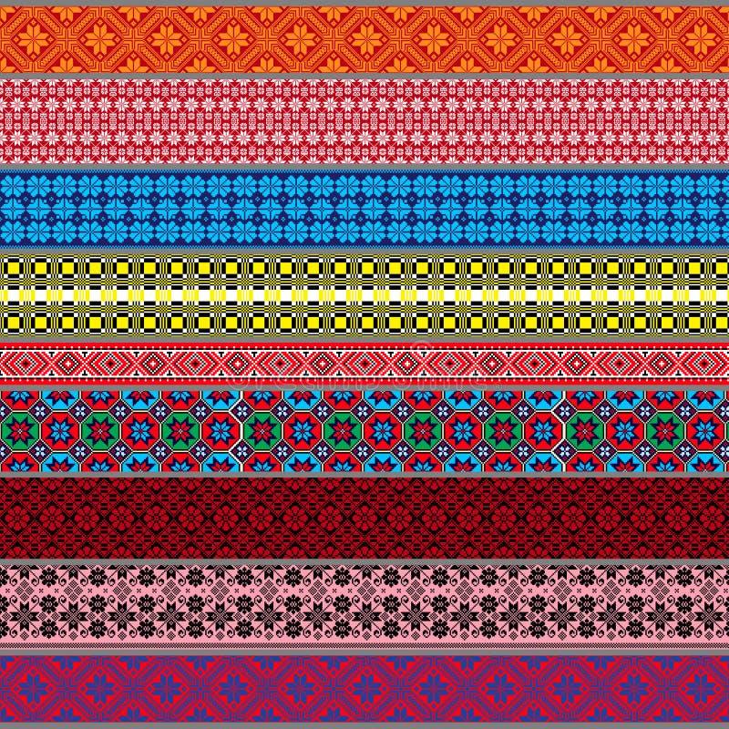 Belarusian tradycyjni wzory, ornamenty Set 3 obraz royalty free