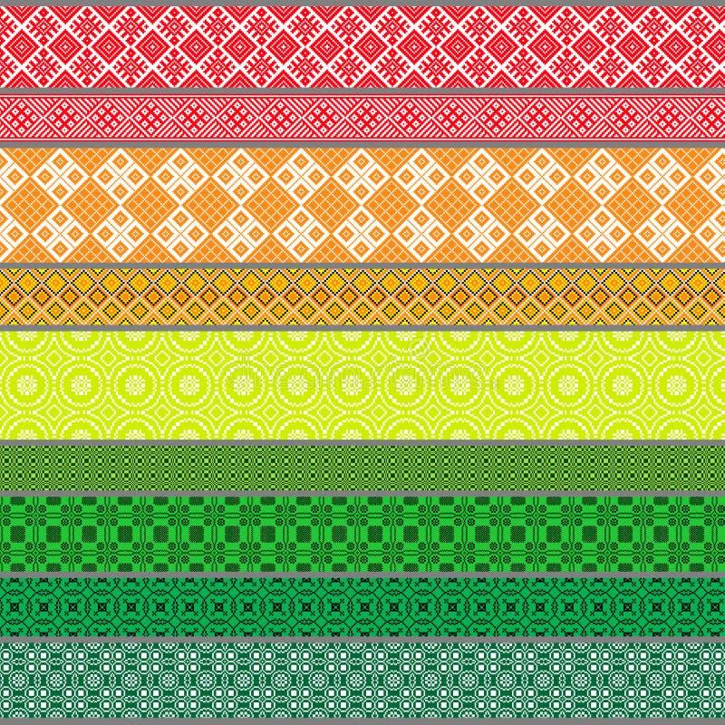 Belarusian tradycyjni wzory, ornamenty Set 5 fotografia stock