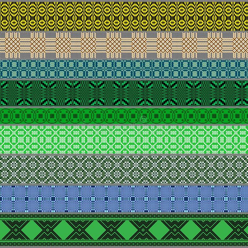 Belarusian tradycyjni wzory, ornamenty Set 6 fotografia royalty free