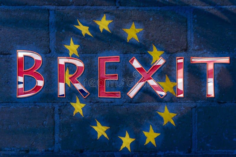 Belas artes abstratas da bandeira de Brexit imagens de stock royalty free
