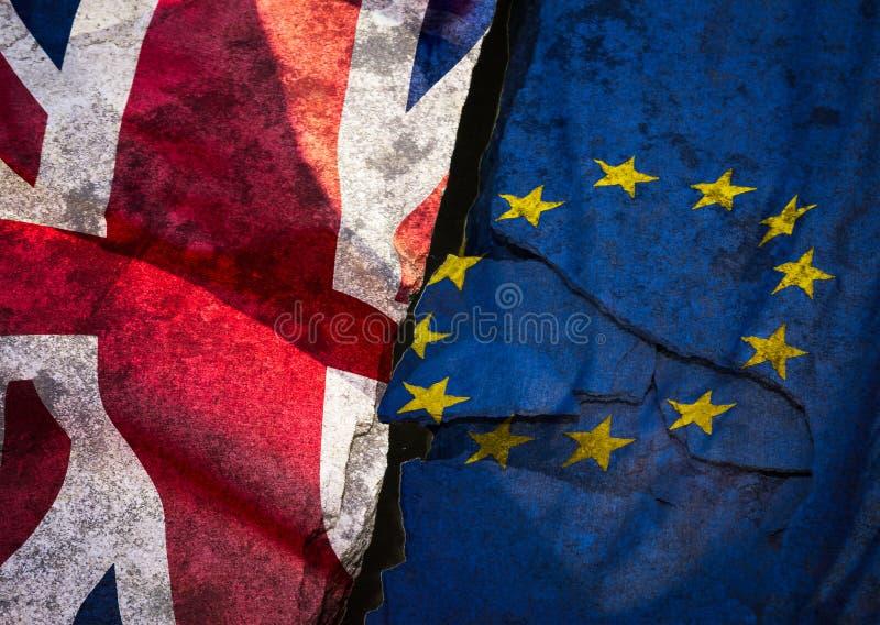 Belas artes da bandeira de Brexit imagens de stock
