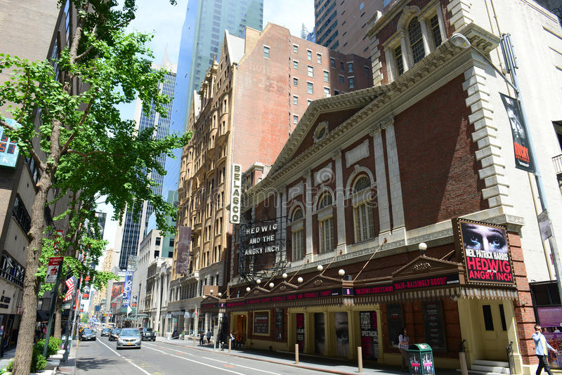 Belasco-Theater auf 44. Straße, New York City lizenzfreies stockbild