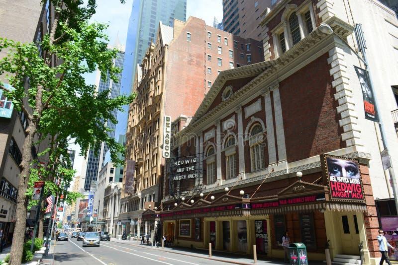 Belasco Theatre on 44th Street, New York City royalty free stock image