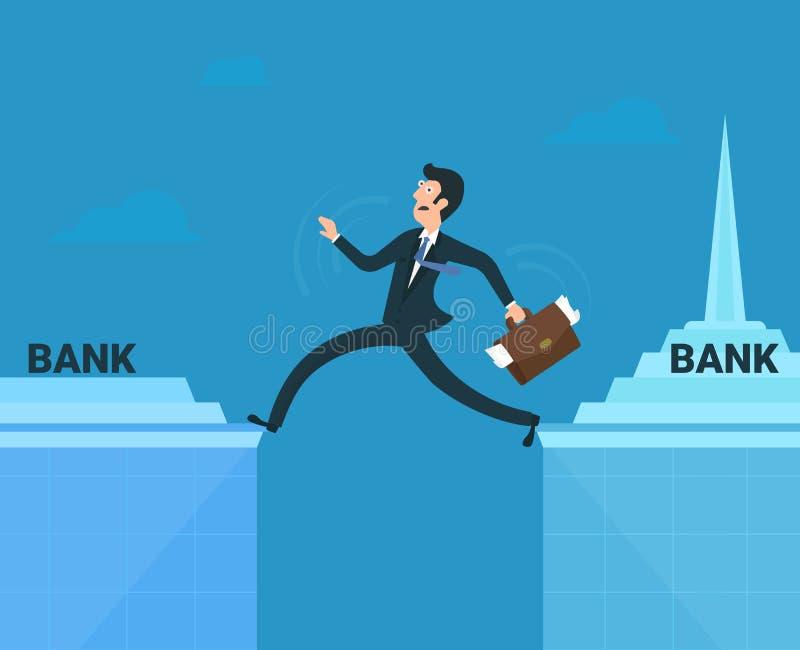 belastad affärsman stock illustrationer
