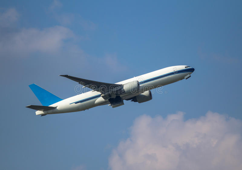 Belastend Vliegtuig royalty-vrije stock foto's