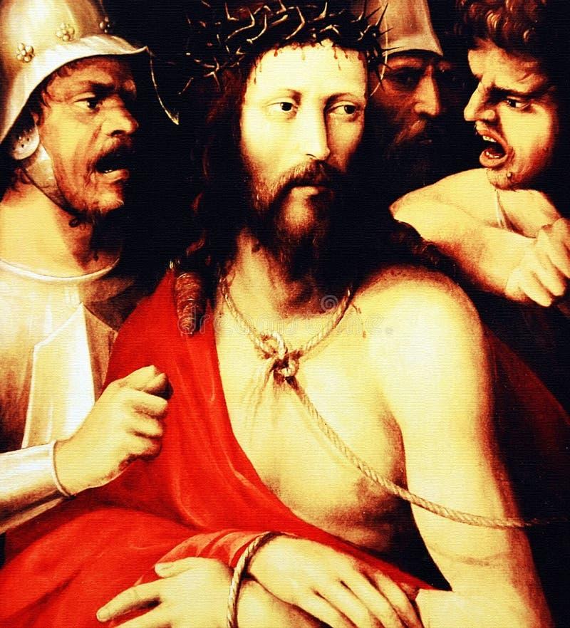 Belastering van Christus stock afbeelding