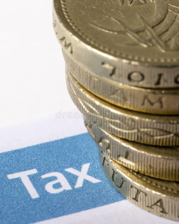 Belasting en pond Sterling stock afbeeldingen