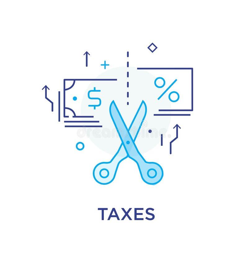 Belasting het inhouden Belastingaangifte Kalender planning Door:sturen aan succes Vinger die richting richten Succes, groeipercen royalty-vrije illustratie