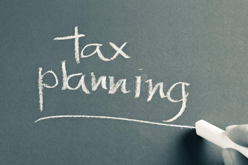 Belasting planning royalty-vrije stock afbeelding