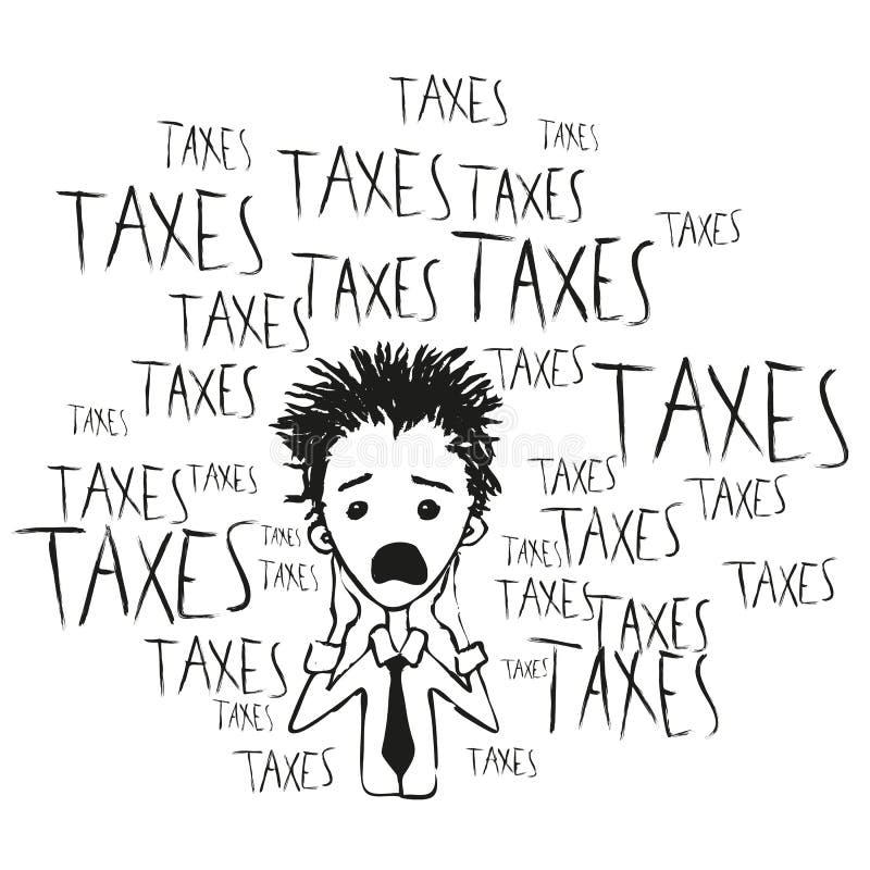 Belastingen en belastingen royalty-vrije illustratie