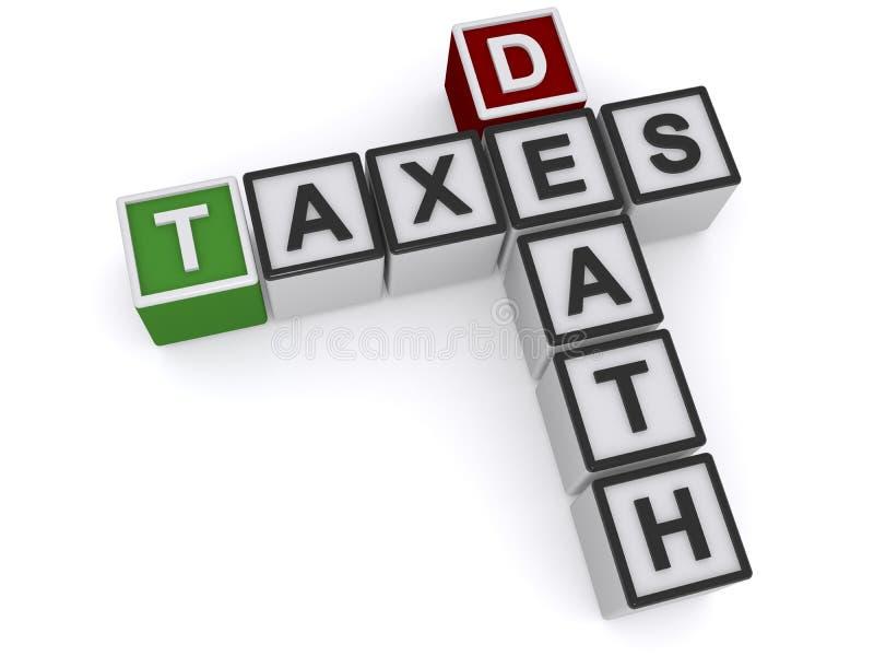 Belastingen en dood vector illustratie