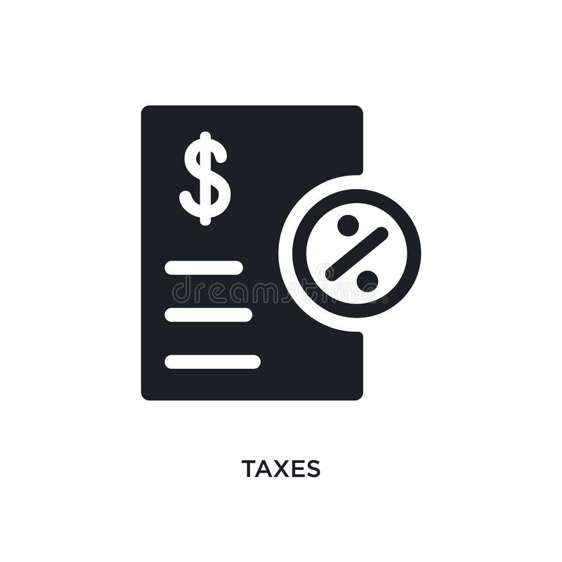 belastingen geïsoleerd pictogram eenvoudige elementenillustratie van de pictogrammen van het betalingsconcept ontwerp van het het royalty-vrije illustratie