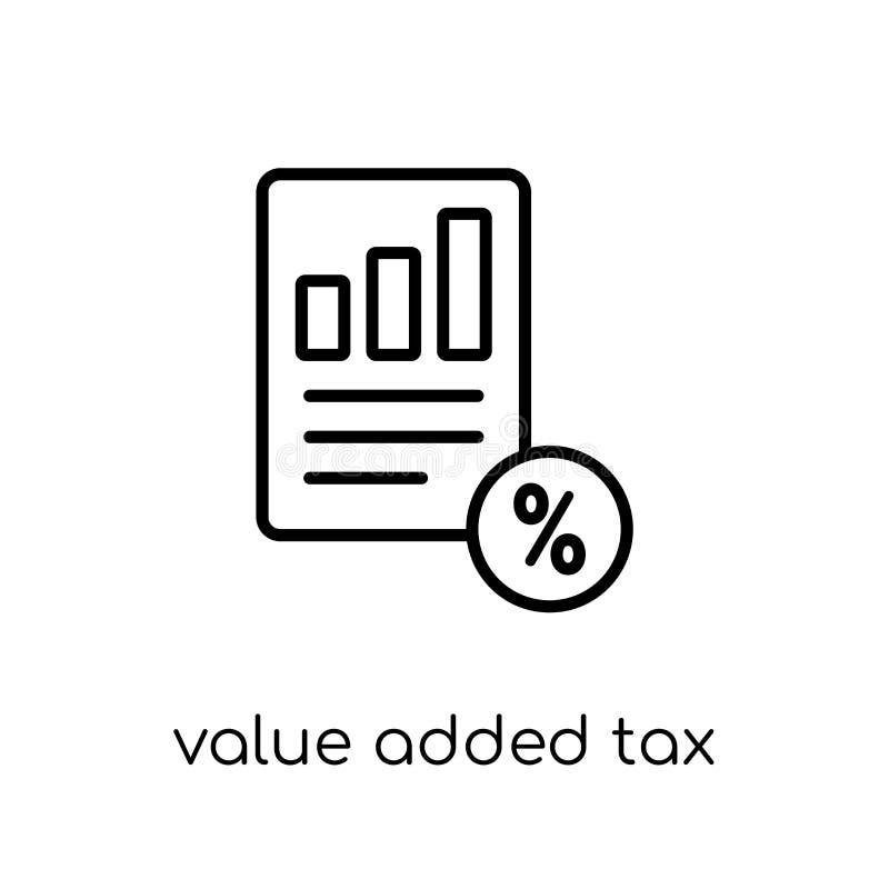Belastings op de toegevoegde waarde (de BTW) pictogram  royalty-vrije illustratie