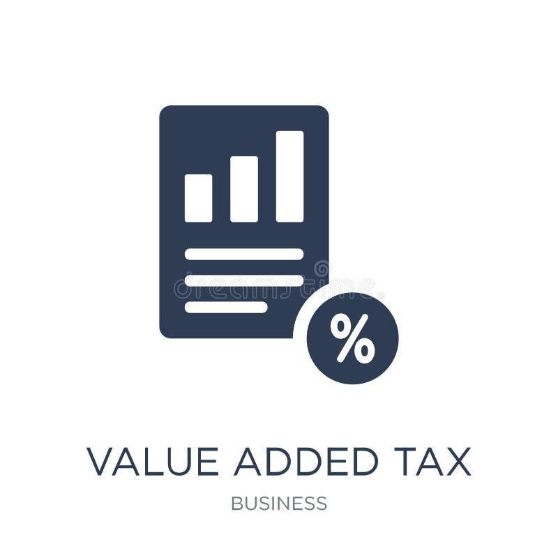 Belastings op de toegevoegde waarde (de BTW) pictogram In vlakke vectorbelasting op de toegevoegde waarde ( stock illustratie