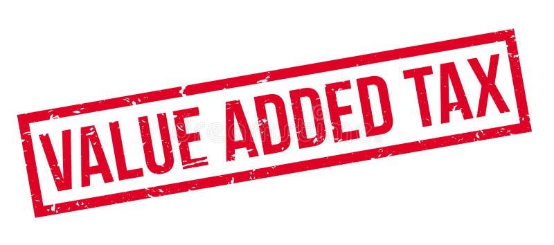 Belastings op de toegevoegde waarde rubberzegel stock illustratie