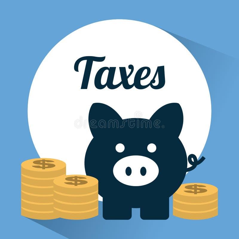 Belastingsontwerp stock illustratie