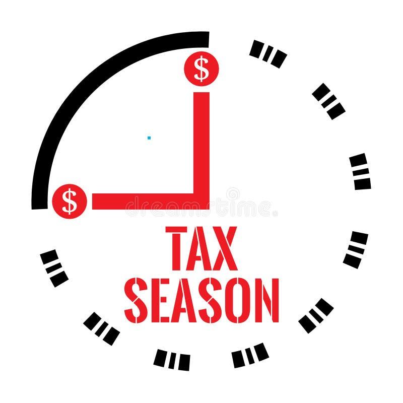 Belastingsseizoen stock illustratie