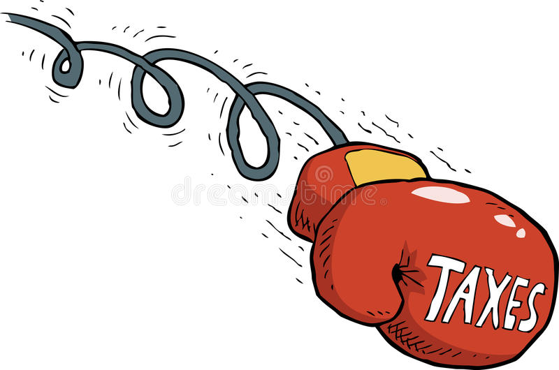 Belastingsslag stock illustratie