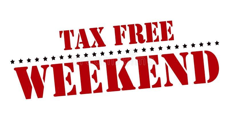 Belastingvrij weekend vector illustratie