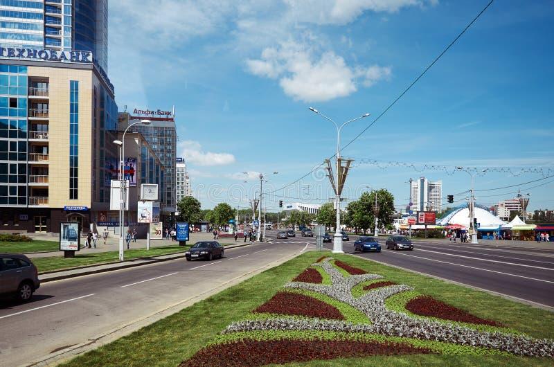 belatedness Δημαρχεία στις οδούς του Μινσκ 21 Μαΐου 2017 στοκ φωτογραφία με δικαίωμα ελεύθερης χρήσης