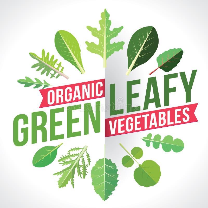 Belaubtes Grün-Gemüse stock abbildung