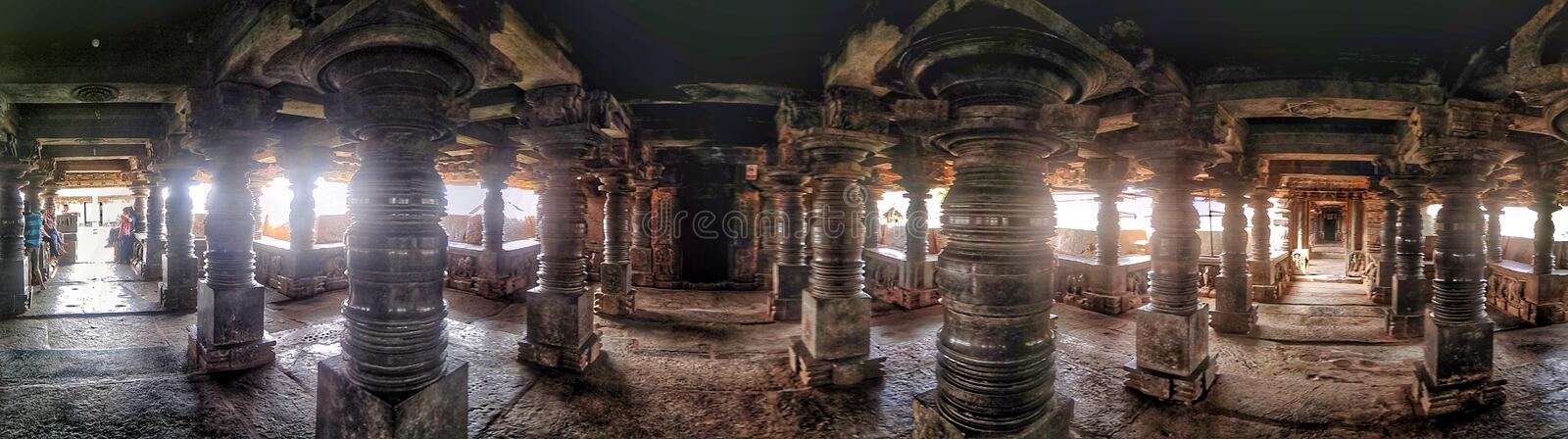 The Veeranarayana Hoysala temple at Belavadi royalty free stock images