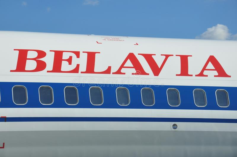 Belavia Airlines royalty free stock photography