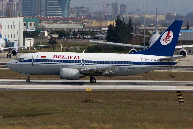 Belavia Boeing 737 royalty free stock photo