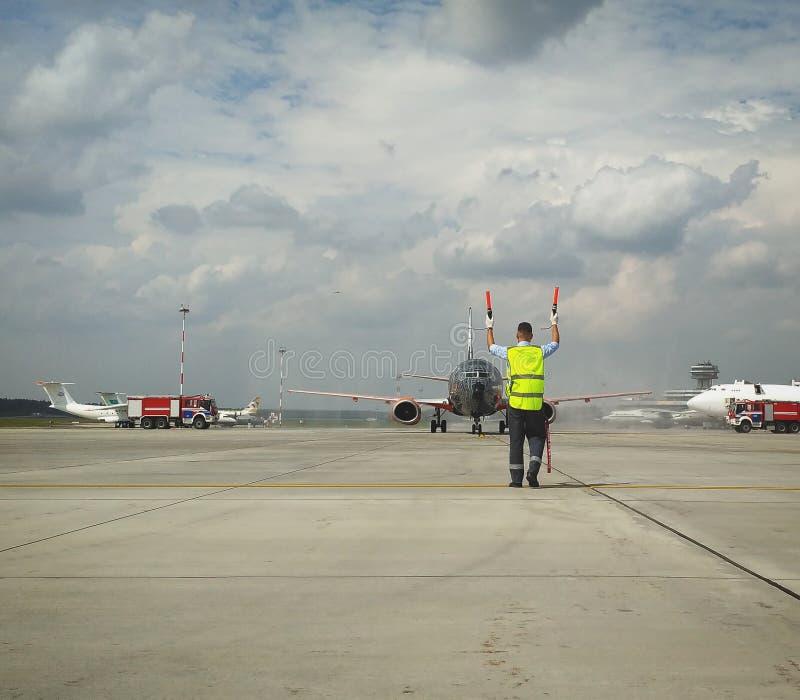 Belavia nowy samolot dla światu zbiorniki obraz stock