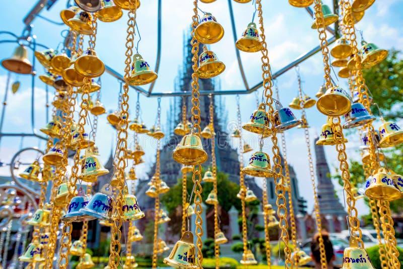 Belces en Wat Arun Temple imagen de archivo