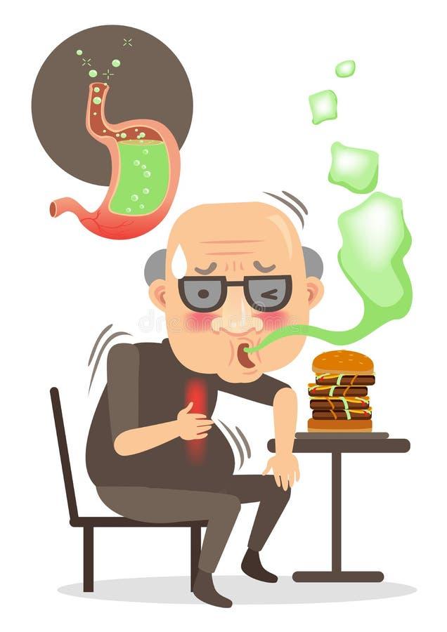 Belch vector illustration
