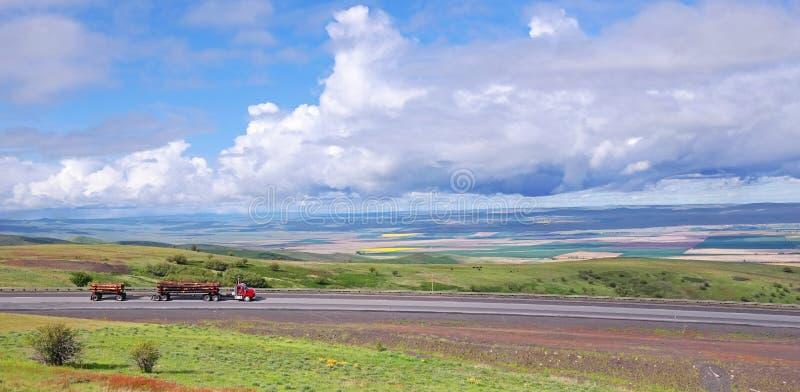Bele młyn - panorama fotografia royalty free