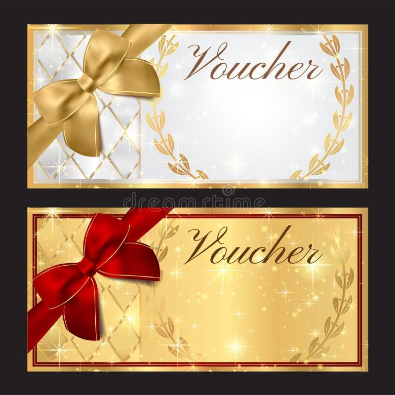 Beleg, Geschenkgutschein, Kuponschablone vektor abbildung