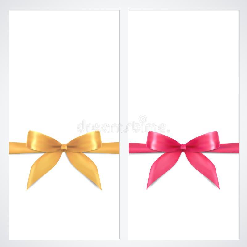 Beleg, Geschenkgutschein, Kuponschablone. Bogen vektor abbildung