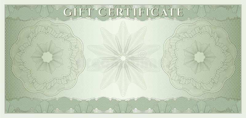Beleg, Geschenkgutschein, Kupon, Geld lizenzfreie abbildung