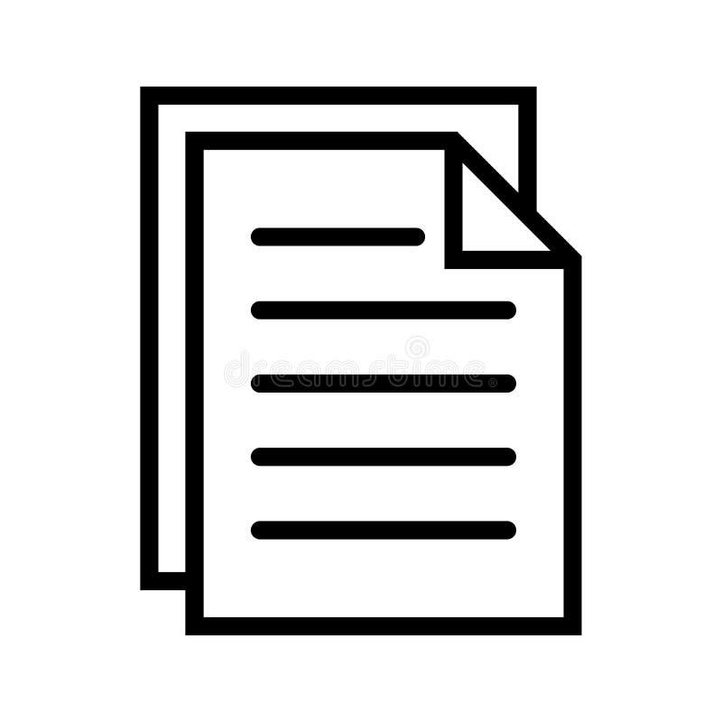 Belegdateien zeichnen Ikone vektor abbildung