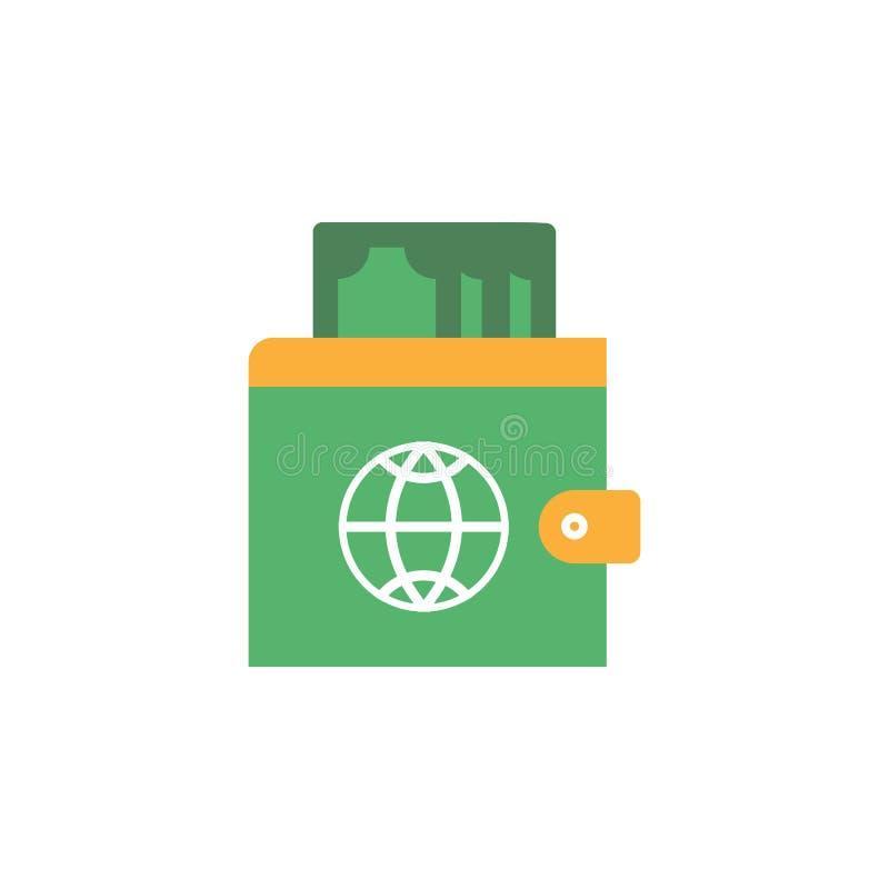 Beleggend, commercieel pictogram Element van Webgeld en Bankwezenpictogram voor mobiele concept en webtoepassingen Gedetailleerd  royalty-vrije illustratie