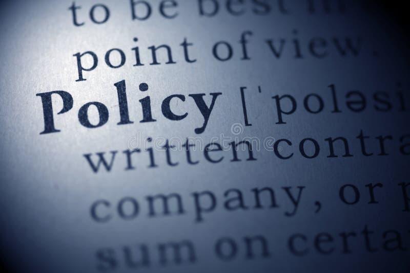 beleid royalty-vrije stock foto